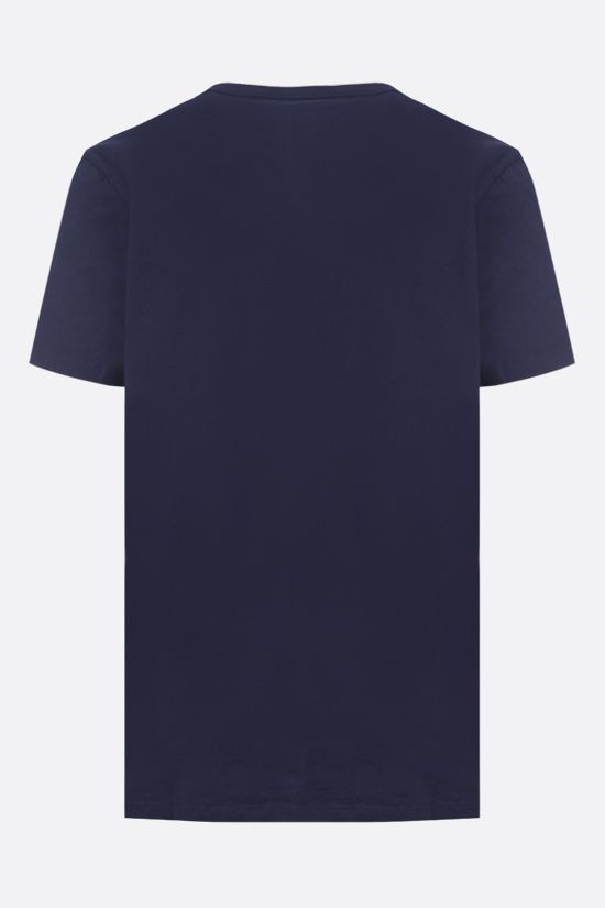 MAISON KITSUNÈ: Parisien cotton t-shirt Color Blue_2