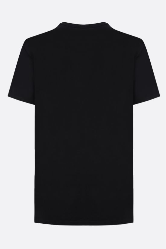 MAISON KITSUNÈ: Fox Head patch cotton t-shirt Color Black_2