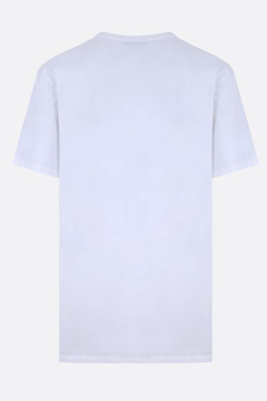 MAISON KITSUNÈ: Fox Head patch cotton t-shirt Color White_2