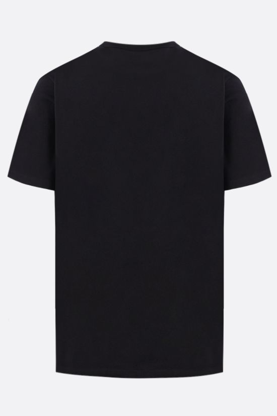 MAISON KITSUNÈ: Chillax Fox patch cotton t-shirt Color Black_2