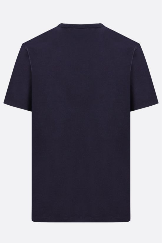 MAISON KITSUNÈ: Chillax Fox patch cotton t-shirt Color Blue_2