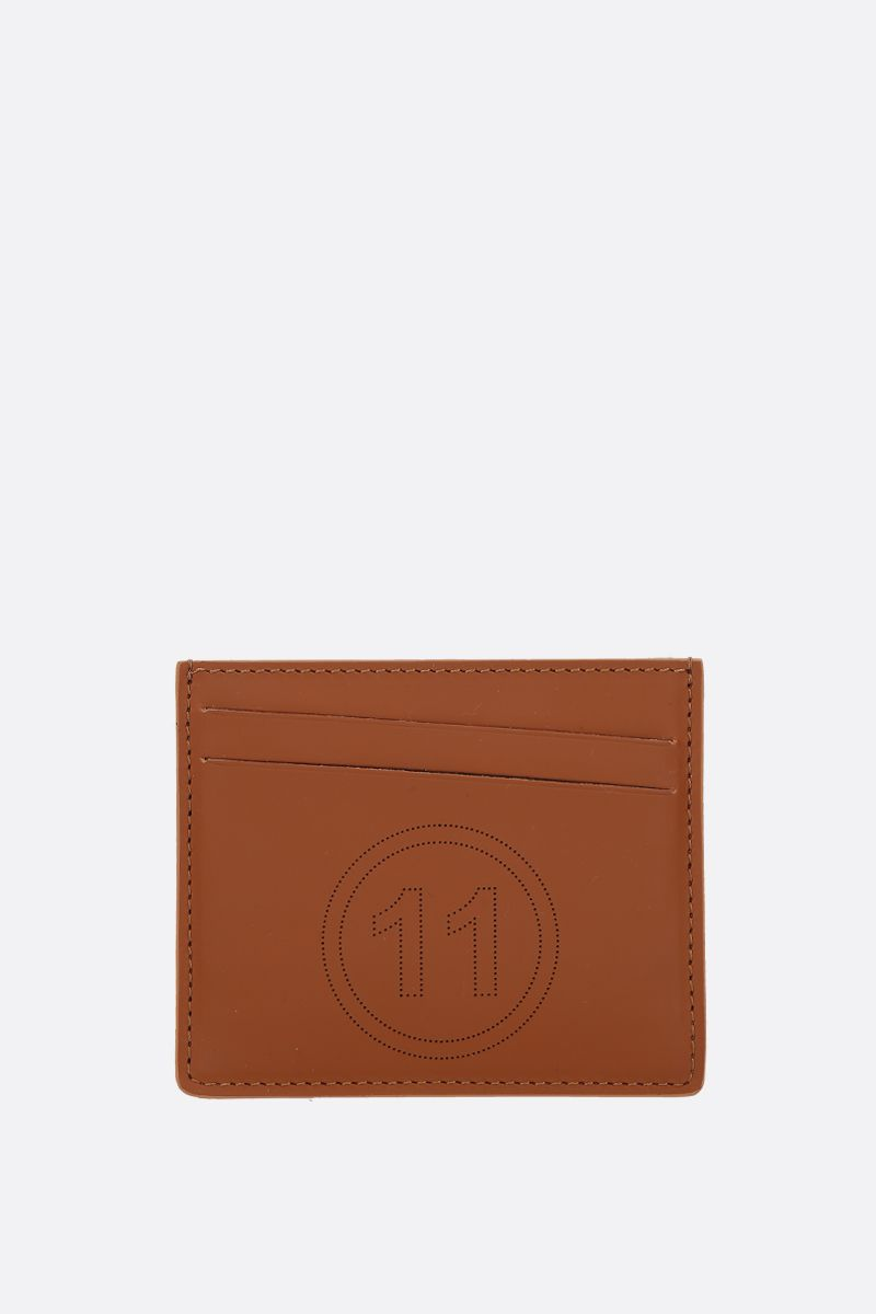 MAISON MARGIELA: smooth leather card holder Color Brown_1