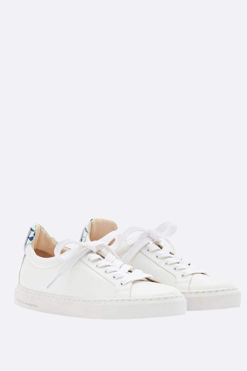 SOPHIA WEBSTER: Butterfly smooth leather sneakers Color White_2