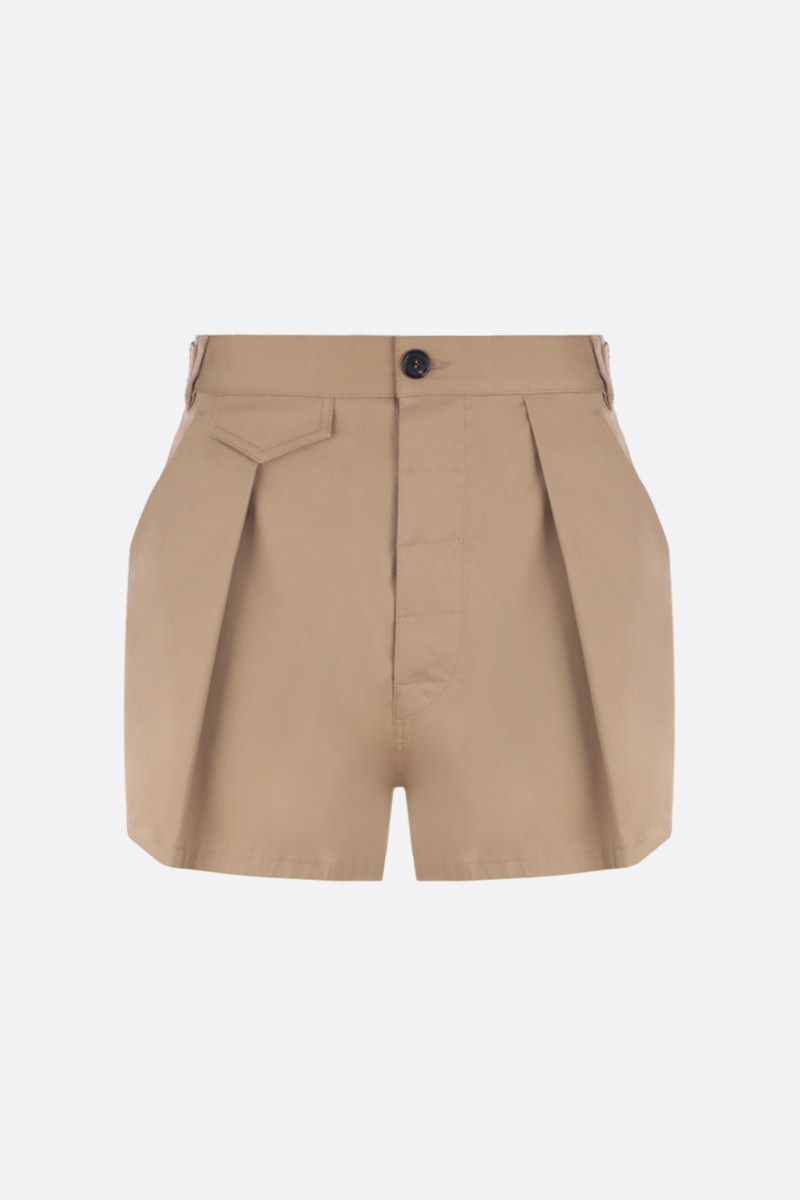 DSQUARED2: stretch cotton darted shorts Color Neutral_1
