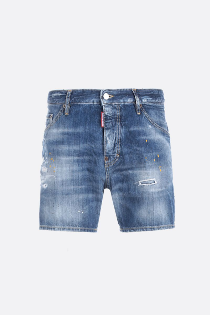 DSQUARED2: denim shorts with distressed effect Color Blue_1