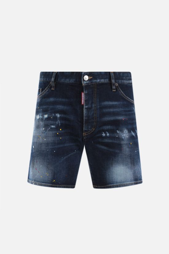 DSQUARED2: Dan Commando denim shorts Color Blue_1