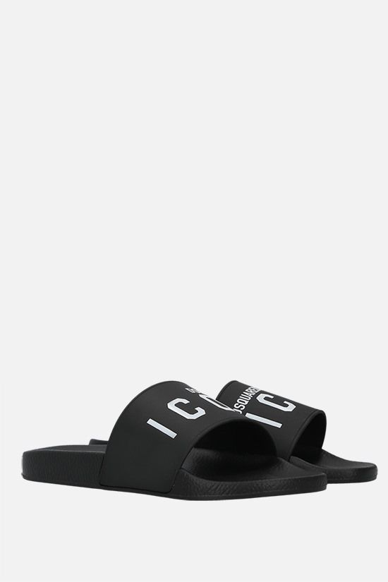 DSQUARED2: Icon rubber slides Color Black_2