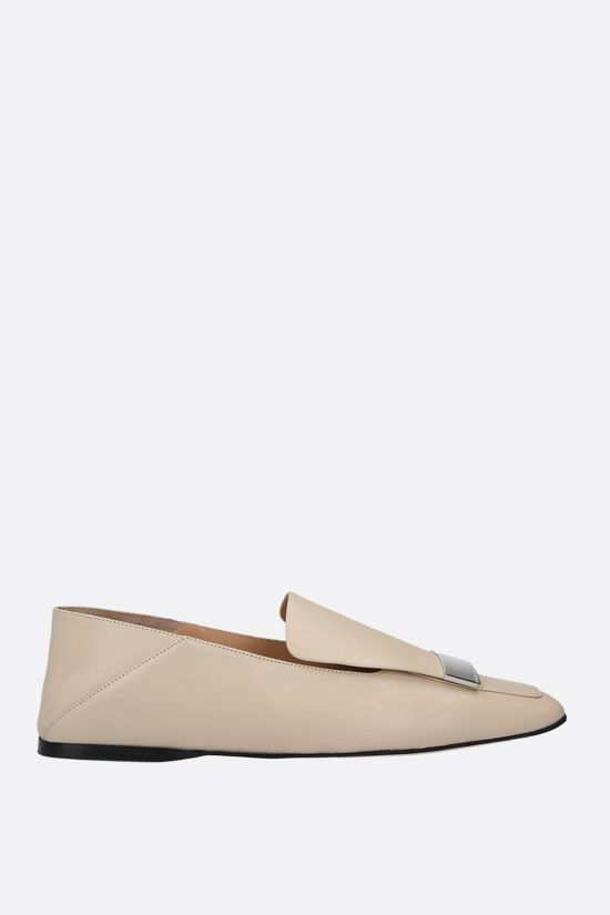 SERGIO ROSSI: sr1 soft nappa slippers Color Neutral_1