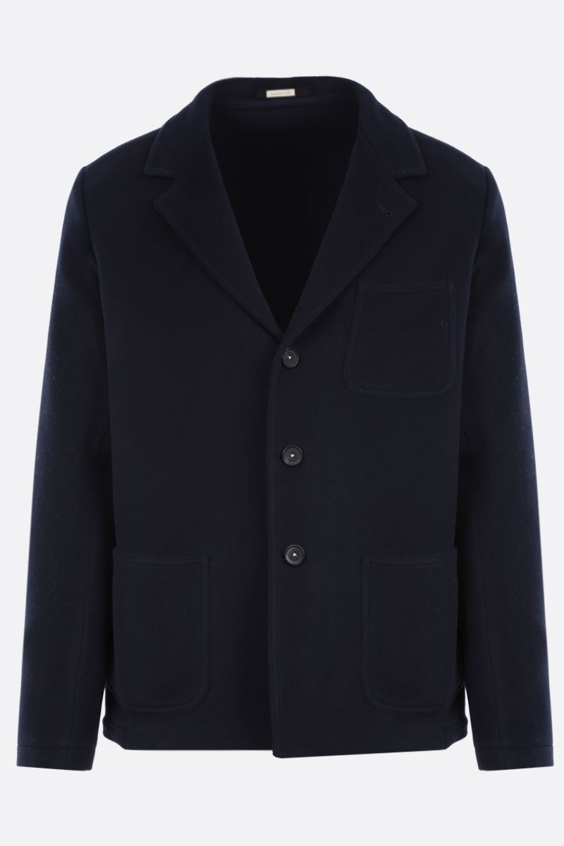 MASSIMO ALBA: wool single-breasted jacket Color Blue_1