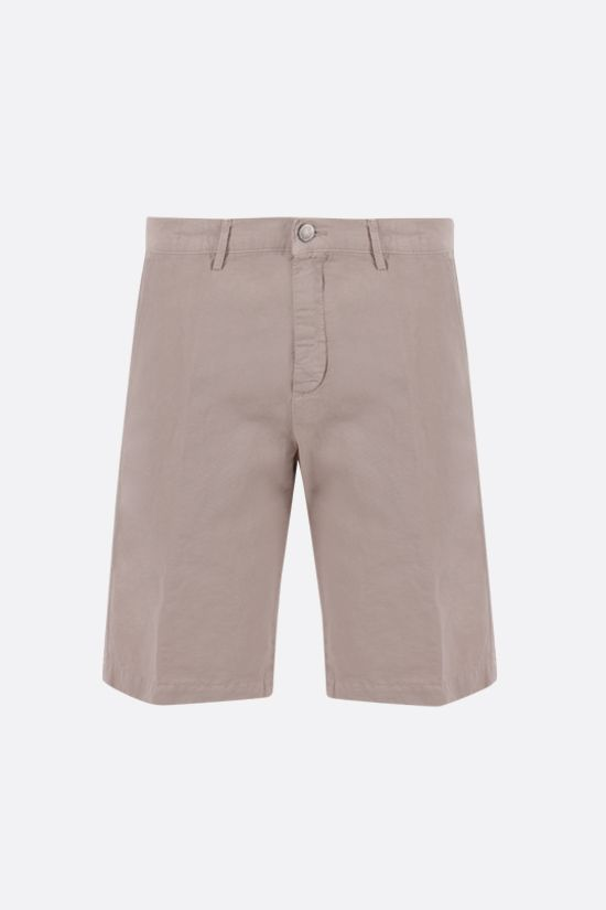 MASSIMO ALBA: Vela linen cotton blend shorts Color Neutral_1