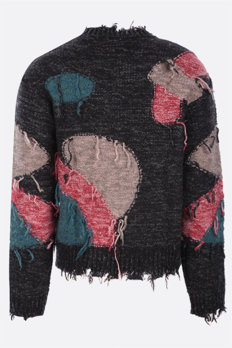 ANDERSSON BELL: pullover Bruce in misto lana Colore Black_2