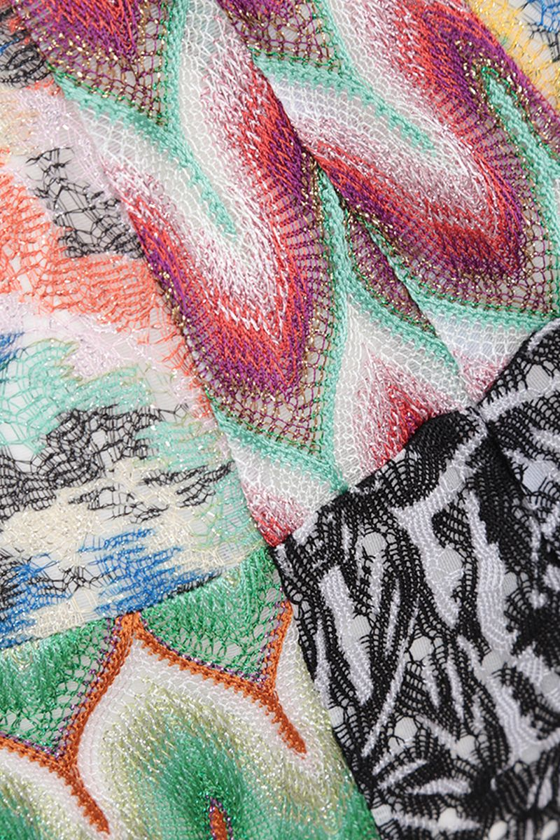MISSONI: lightweight knit cropped pants Color Multicolor_4