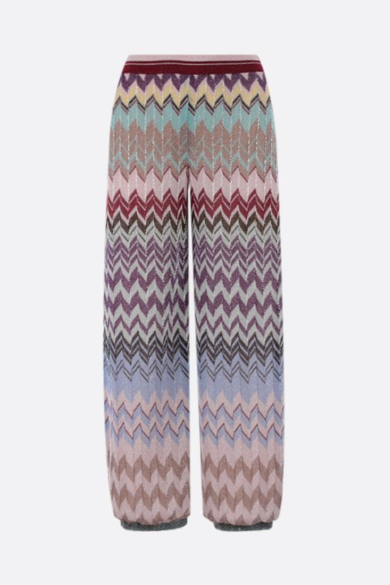 MISSONI: zigzag-motif lightweight knit cropped pants Color Multicolor_2