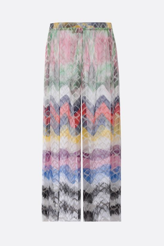 MISSONI: lightweight knit wide-leg pants Color Multicolor_1