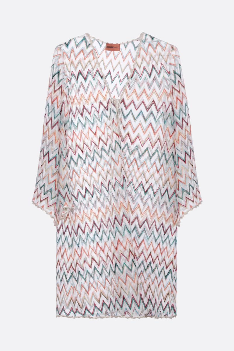 MISSONI: lurex lightweight knit caftan_1