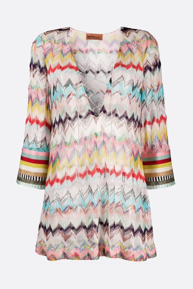 MISSONI: lightweight lurex knit caftan Color Multicolor_1