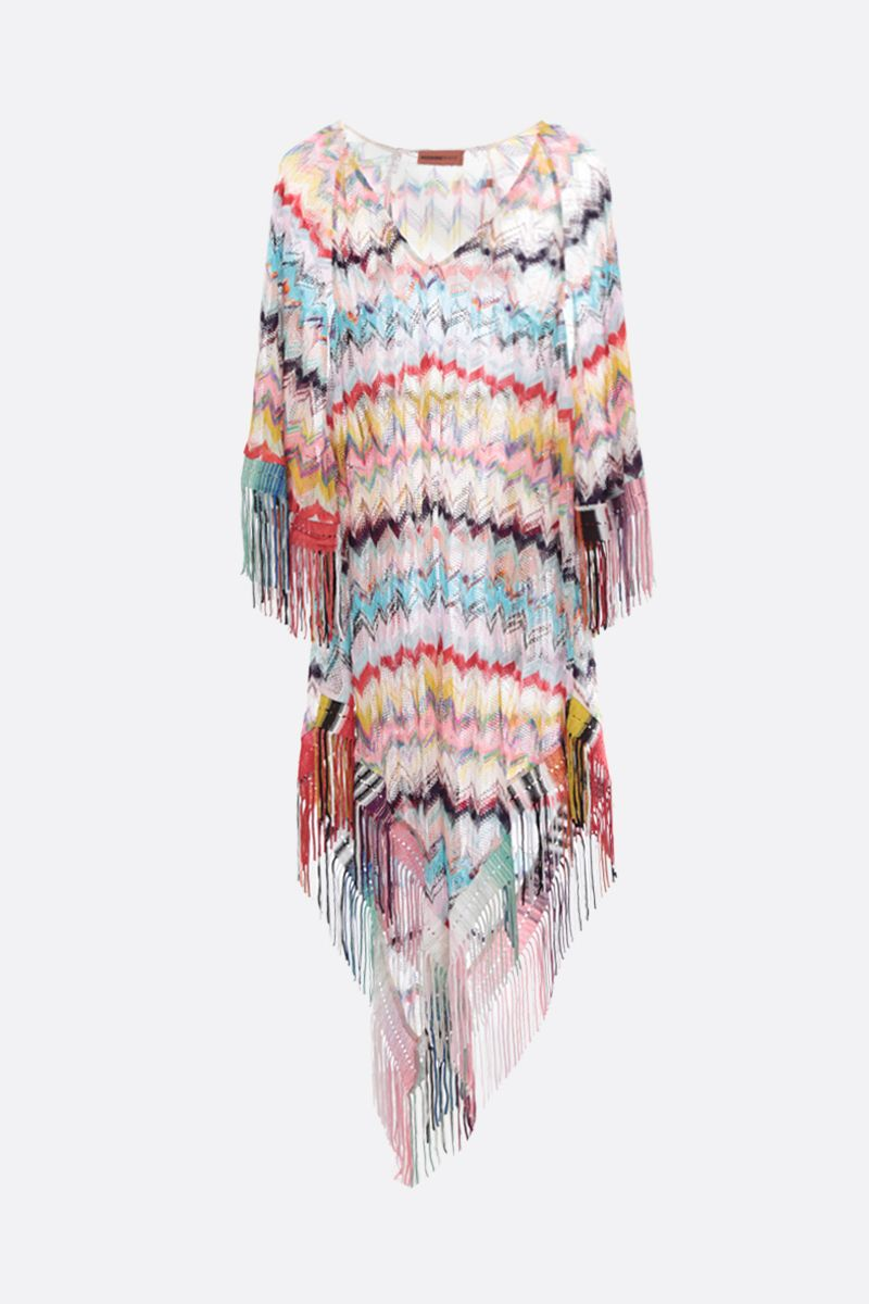 MISSONI: fringe-detailed lightweight caftan Color Multicolor_1