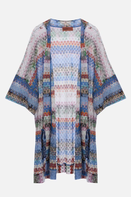 MISSONI: graphic-motif lightweight knit beach robe Color Multicolor_1