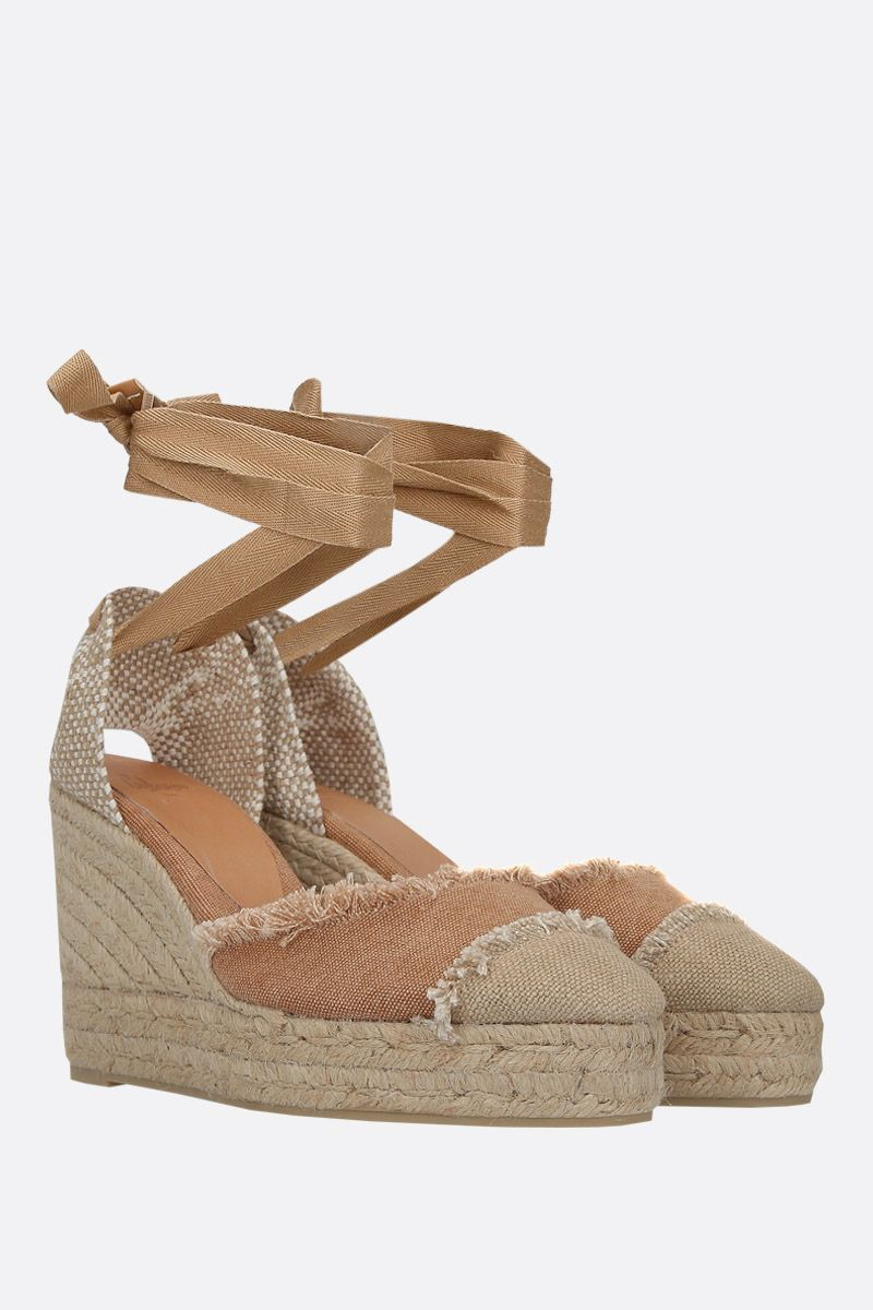 CASTANER: Catalina wedge espadrilles in canvas and jute Color Brown_2