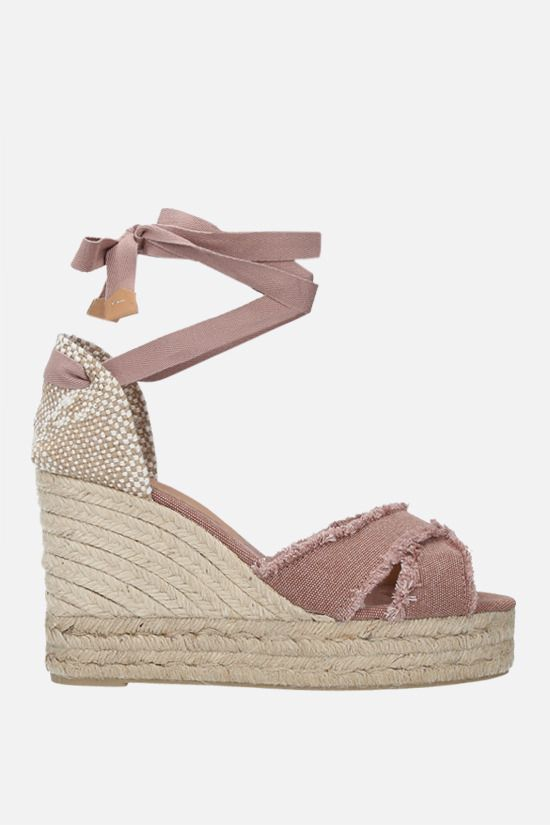 CASTANER: Bluma canvas and jute wedge sandals Color Pink_1