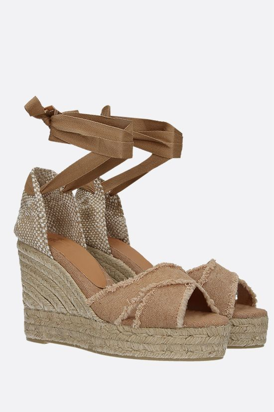 CASTANER: Bluma canvas and jute wedge sandals Color Neutral_2