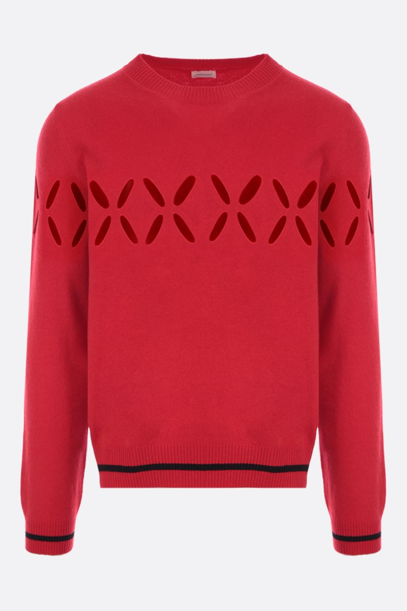 STEFAN COOKE: cut-out wool pullover Color Red_1