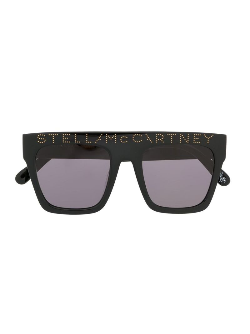 STELLA McCARTNEY KIDS: logo-detailed acetate sunglasses Color Black_1
