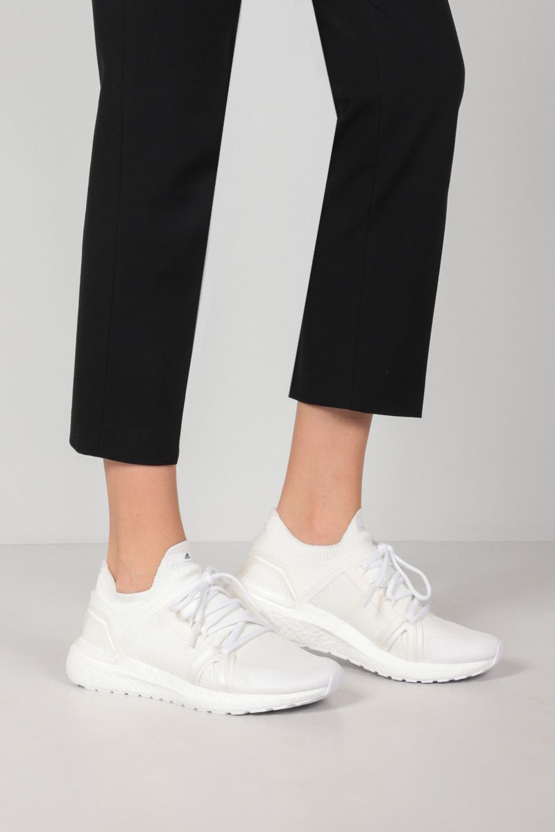 ADIDAS BY STELLA McCARTNEY: Ultraboost 20 No Dye sneakers in Primeblue fabric Color White_2