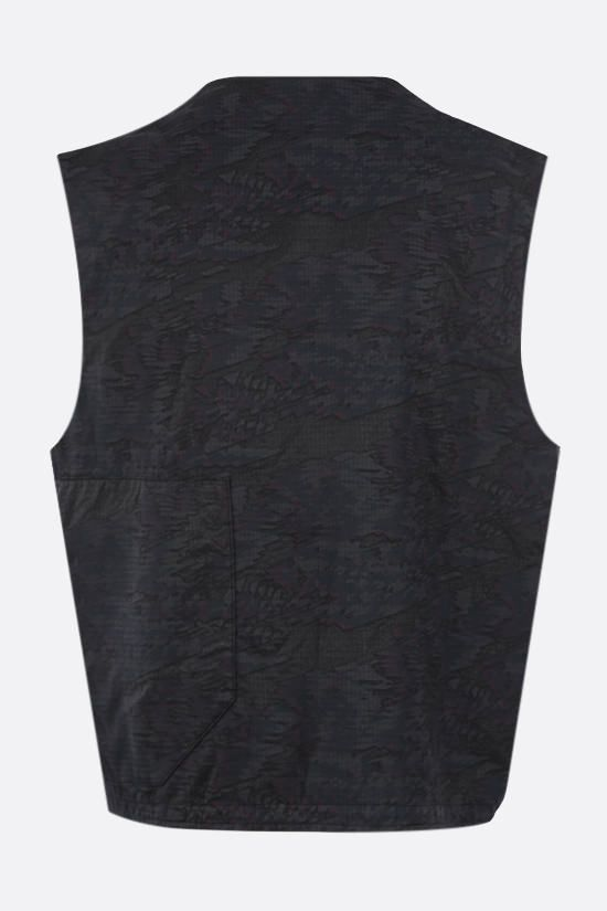 STONE ISLAND SHADOW PROJECT: DPM Ripstop Devorè fabric vest Color Black_2