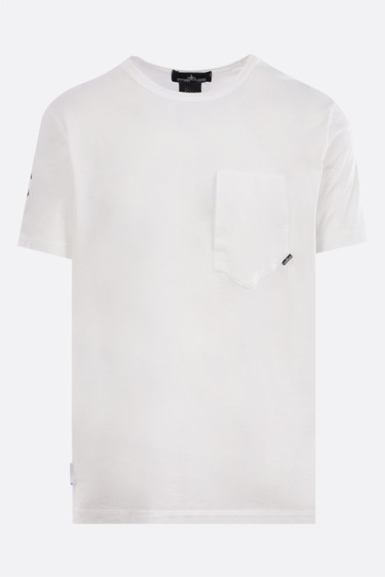 STONE ISLAND SHADOW PROJECT: t-shirt in cotone stampa grafica Colore Bianco_1