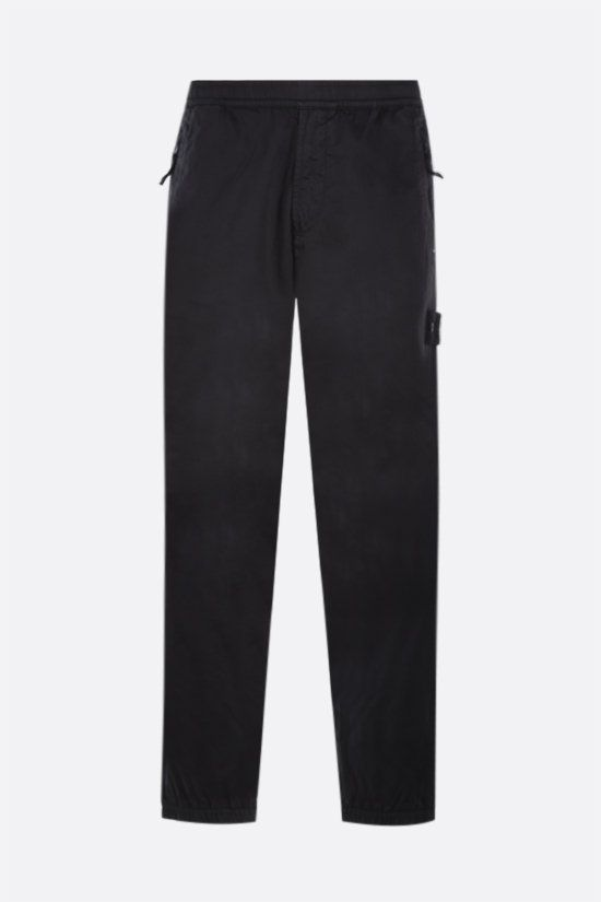 STONE ISLAND: Ghost Piece wool cotton blend joggers Color Black_1