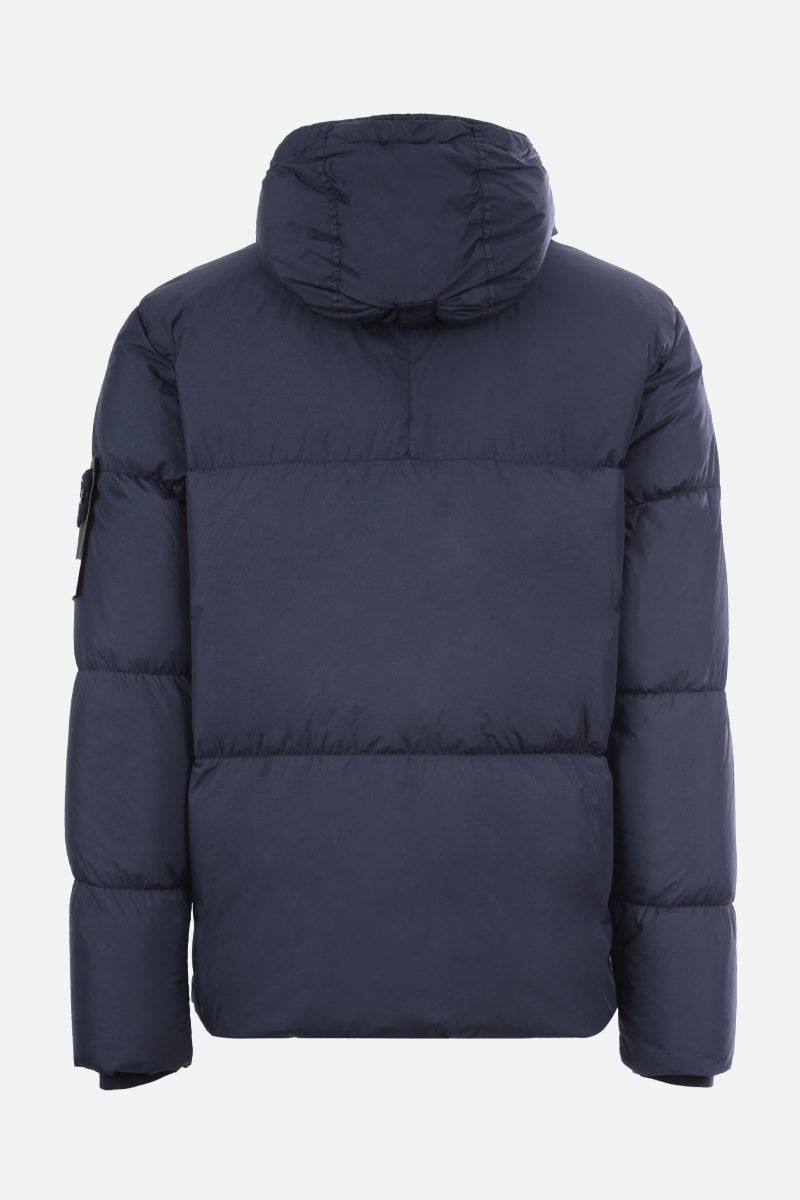 STONE ISLAND: Crickle Reps nylon down jacket Color Blue_2