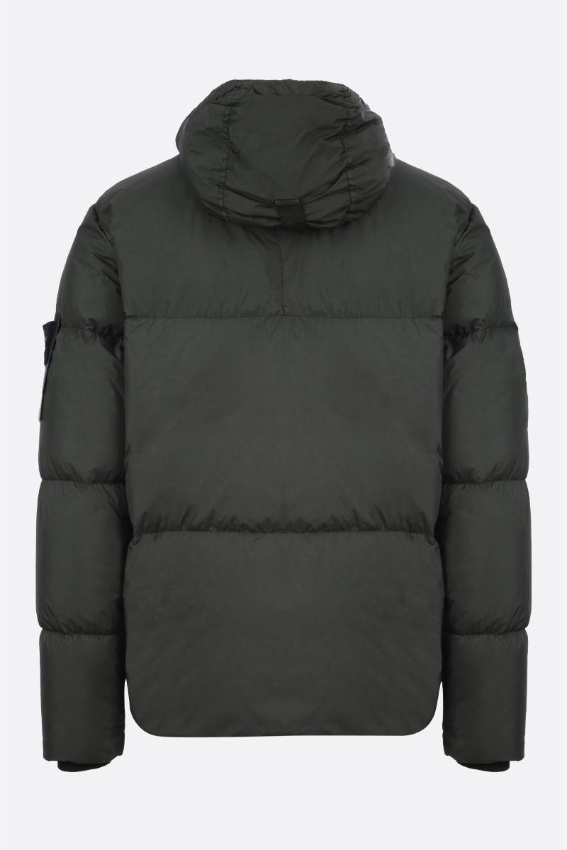 STONE ISLAND: Crickle Reps nylon down jacket Color Green_2