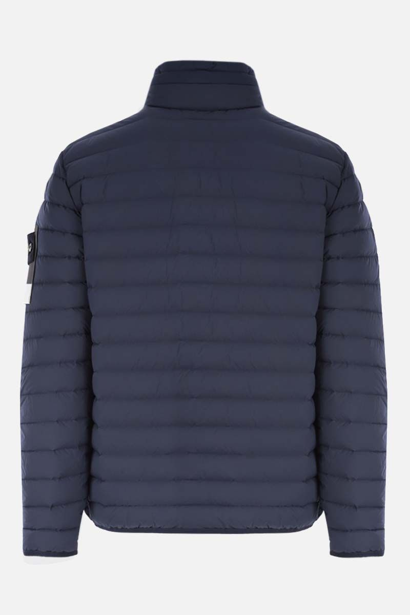 STONE ISLAND: Loom Woven Down Chambers Stretch Nylon-TC down jacket Color Blue_2