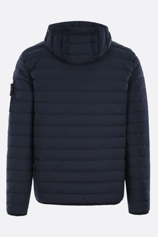 STONE ISLAND: Stretch Nylon-TC down jacket Color Blue_2
