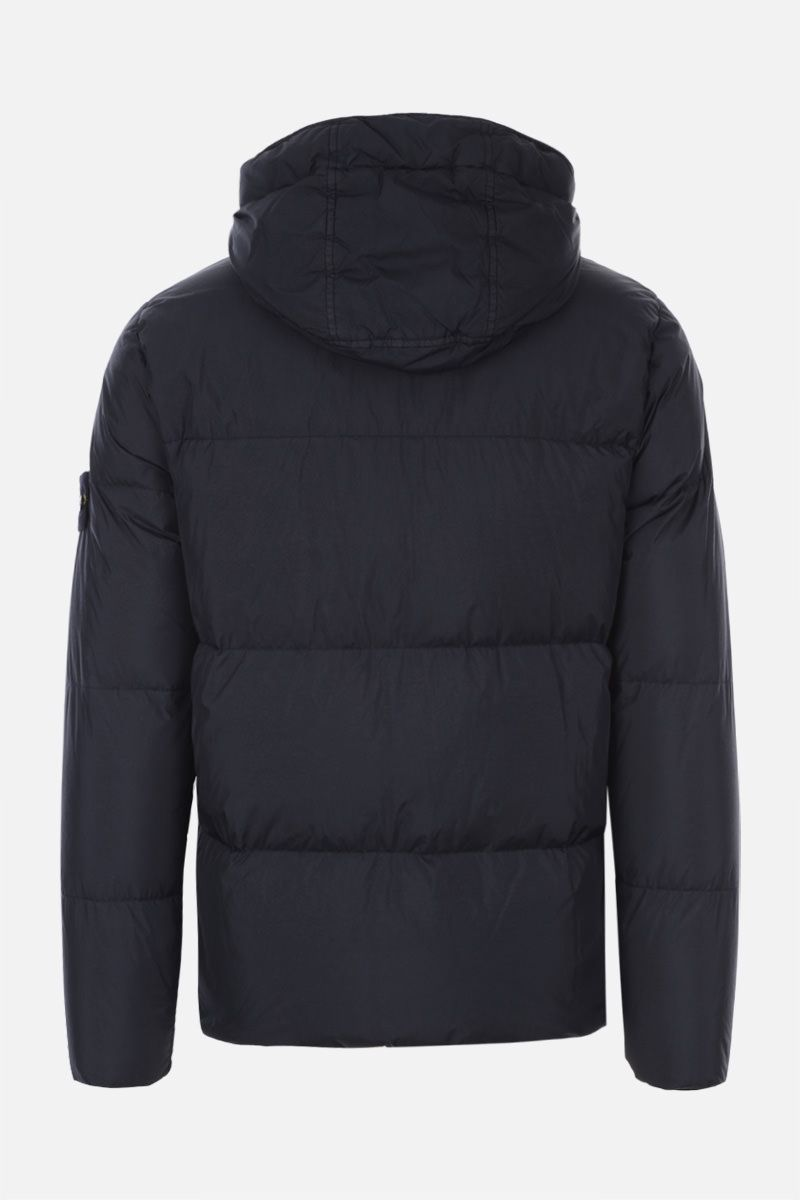 STONE ISLAND: Crinkle Reps Nylon down jacket Color Blue_2
