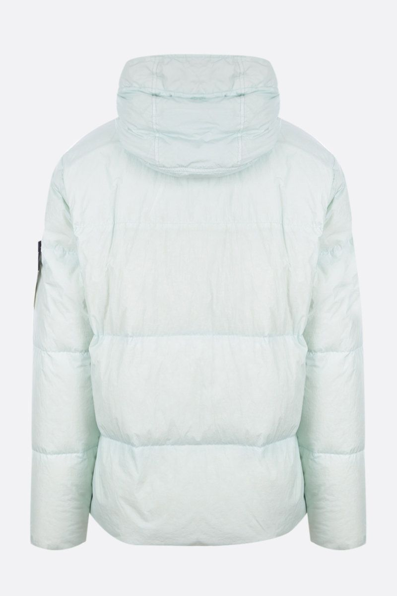 STONE ISLAND: Crinkle Reps Nylon down jacket Color Green_2