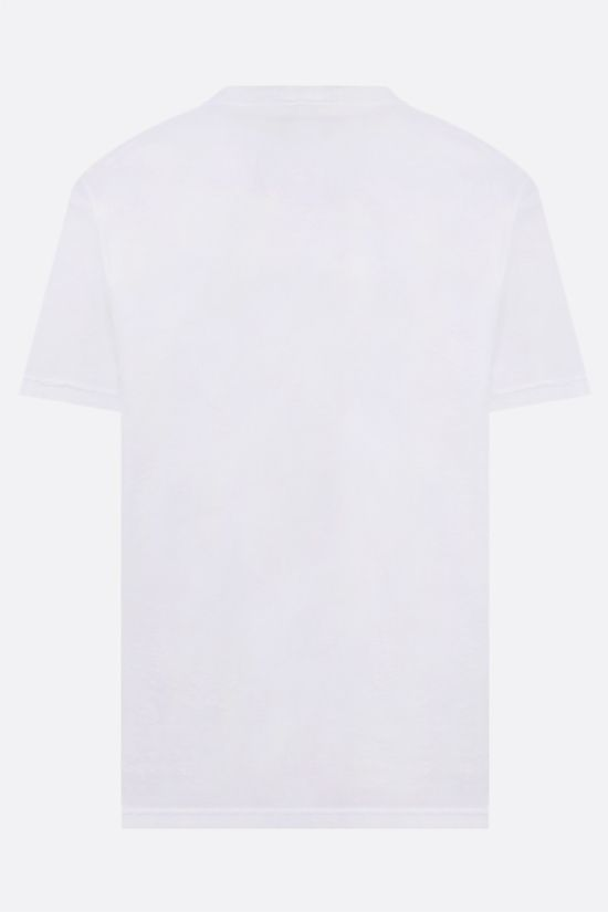 STONE ISLAND: logo-patch cotton t-shirt Color White_2