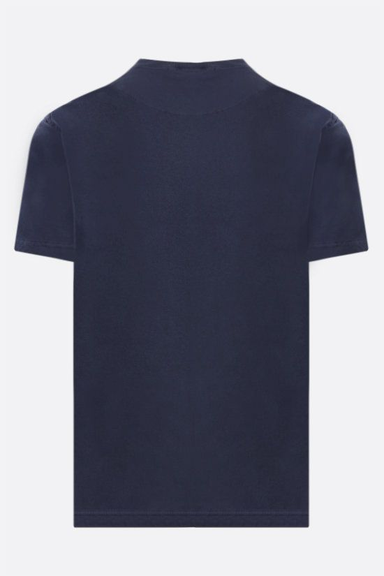 STONE ISLAND: logo patch cotton t-shirt Color Blue_2