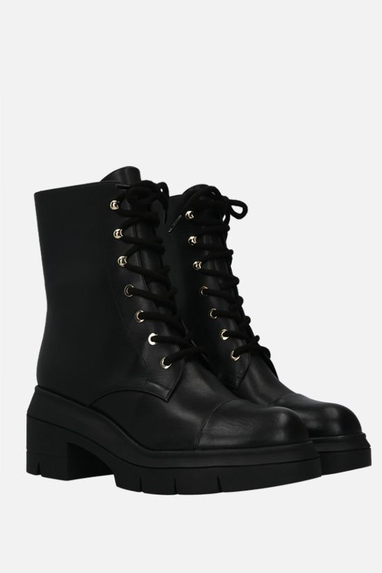 STUART WEITZMAN: Nisha smooth leather combat boots Color Black_2