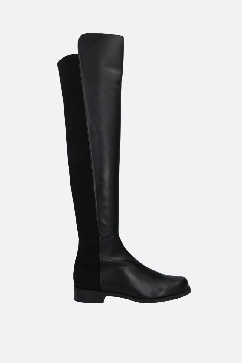 STUART WEITZMAN: 5050 nappa and gabardine over-the-knee boots Color Black_1