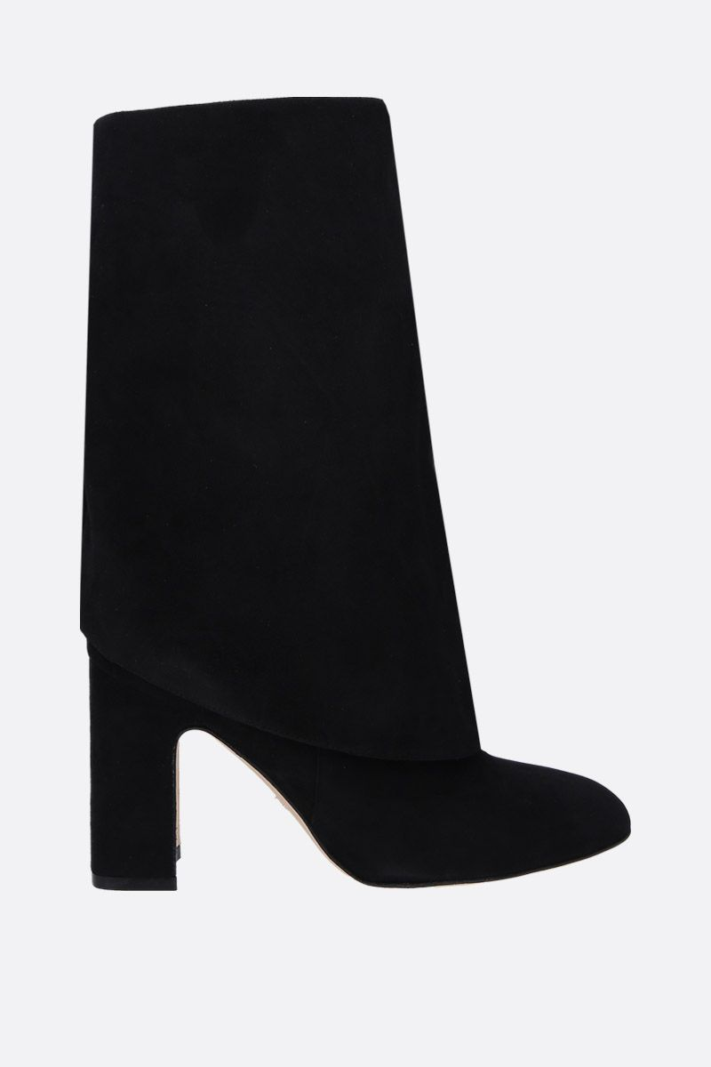 STUART WEITZMAN: Lucinda suede pull-on boots Color Black_1