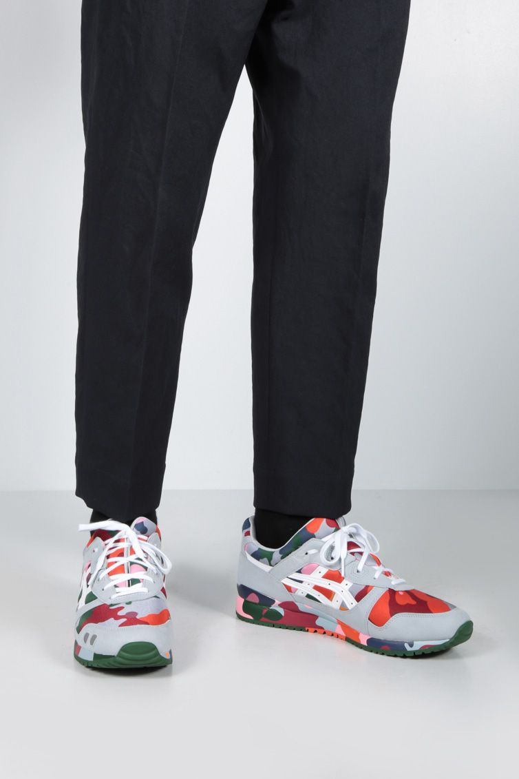 COMME des GARCONS SHIRT: Gel Lyte neoprene and faux suede sneakers Color Multicolor_2