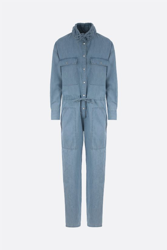 ISABEL MARANT ETOILE: Marvin denim jumpsuit Color Blue_1