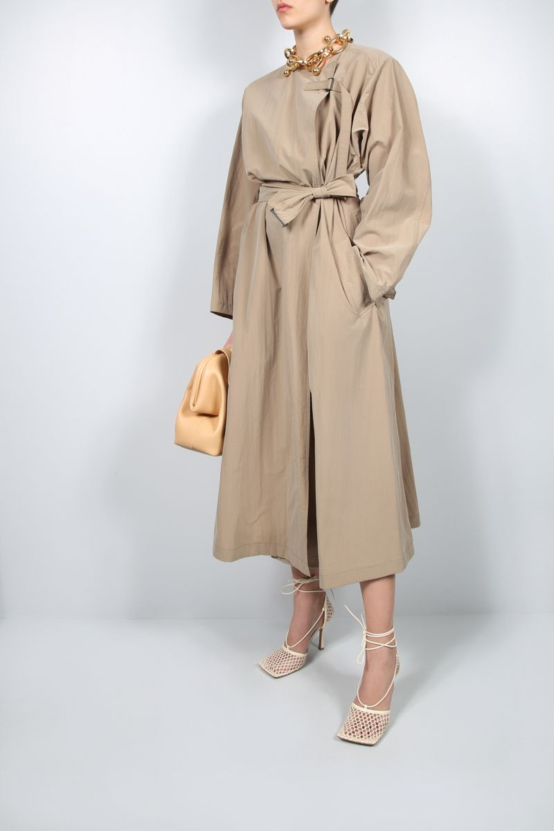 ISABEL MARANT: Ilifawn oversize nylon overcoat Color Neutral_2