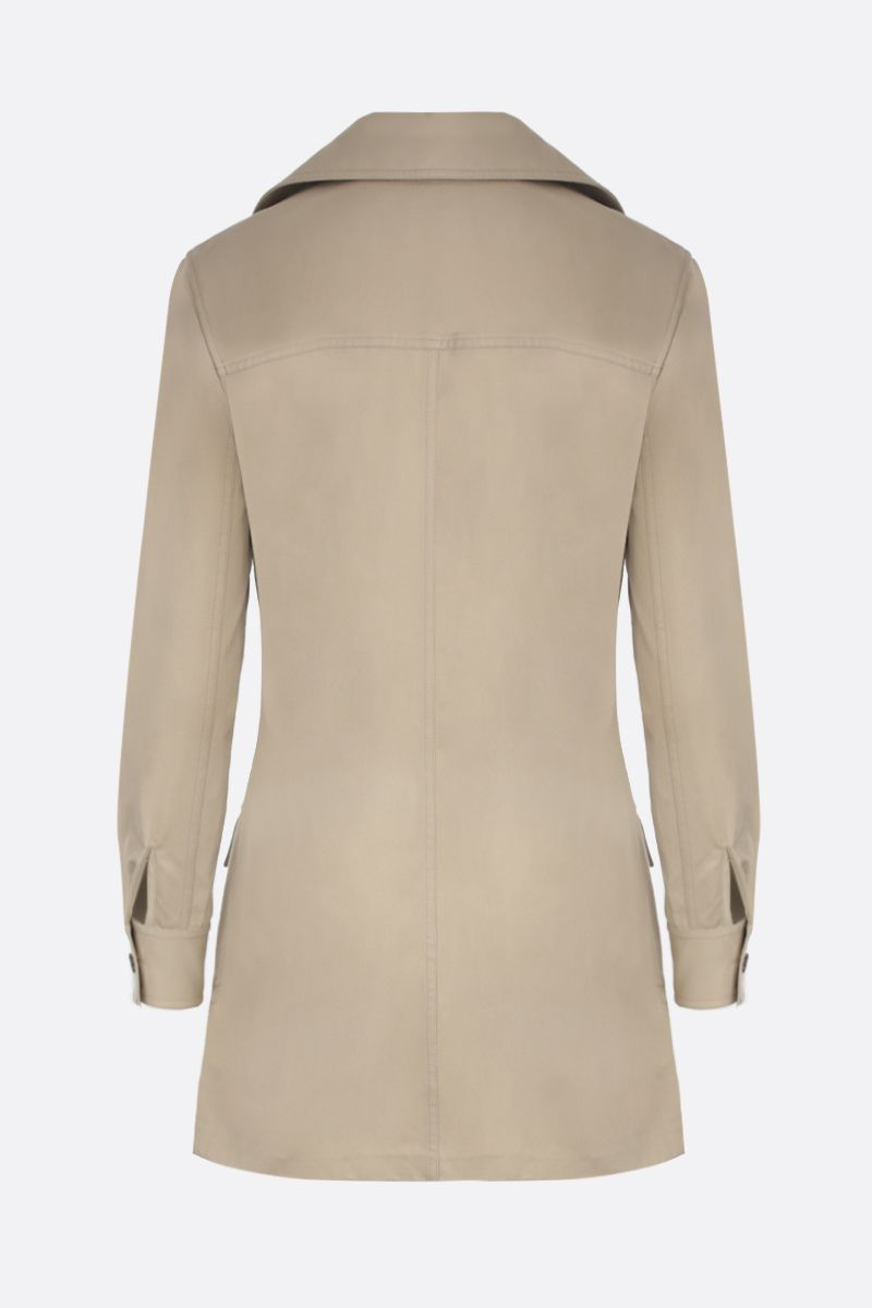 SAINT LAURENT: cotton gabardine safari minidress_2