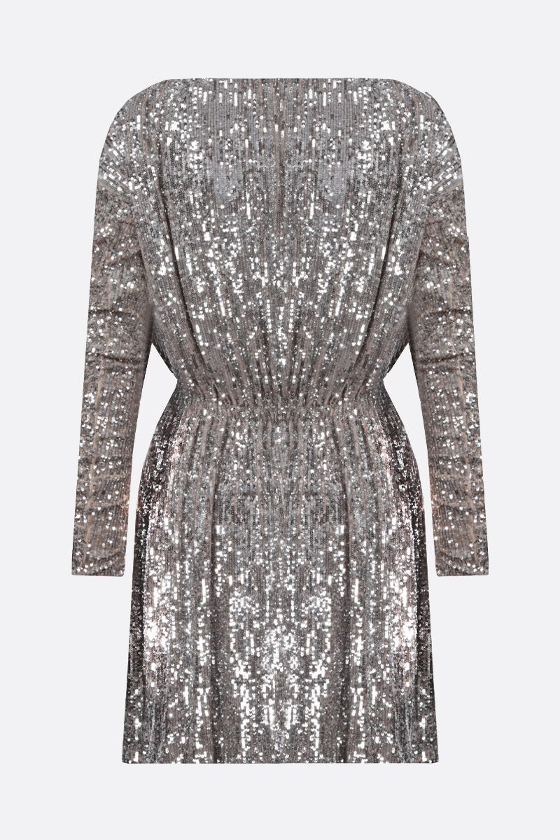 SAINT LAURENT: sequinned fabric minidress Color Neutral_2