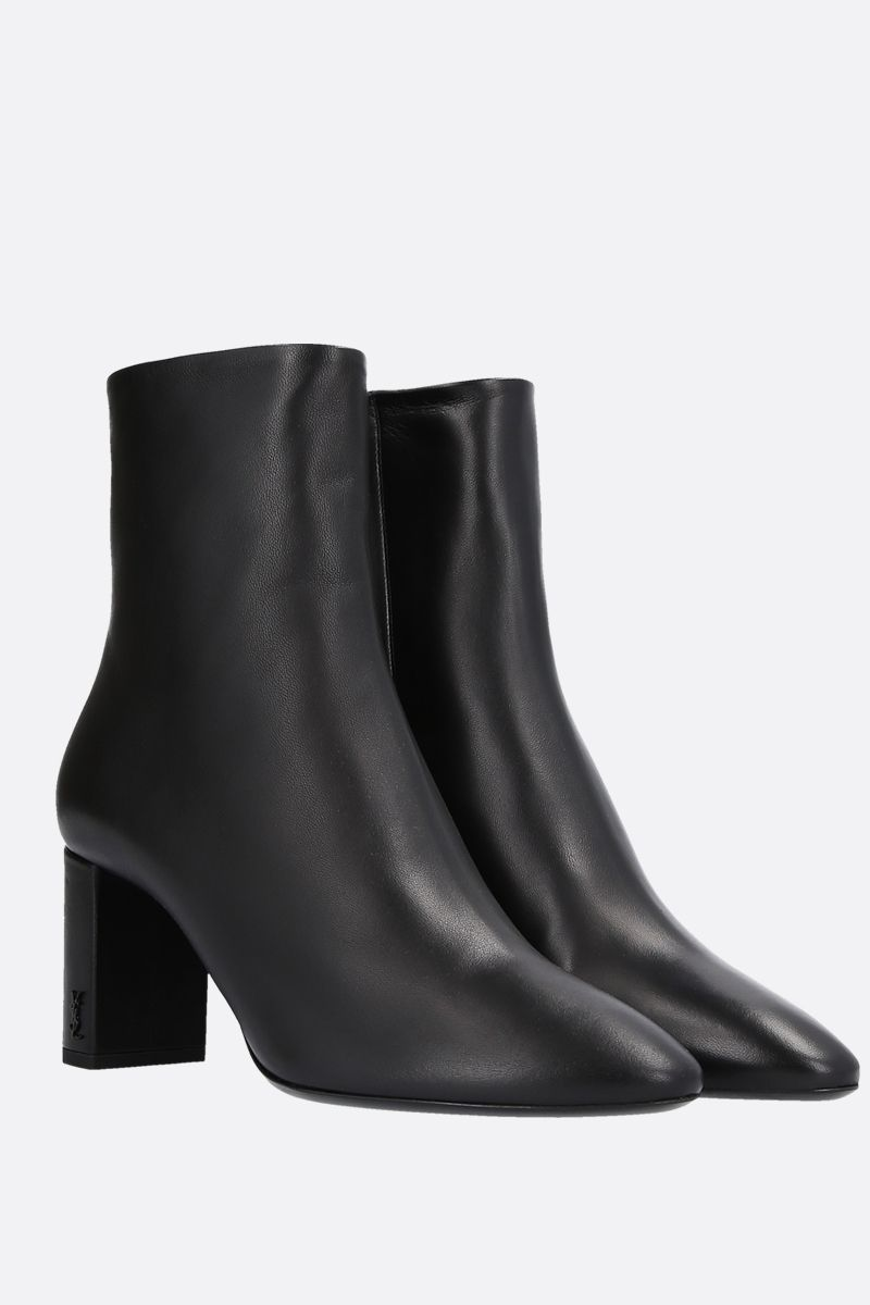 SAINT LAURENT: Lou nappa ankle boots Color Black_2