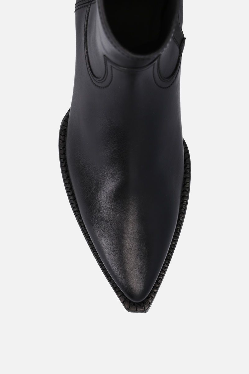 SAINT LAURENT: Lukas western boots in smooth leather Color Black_4