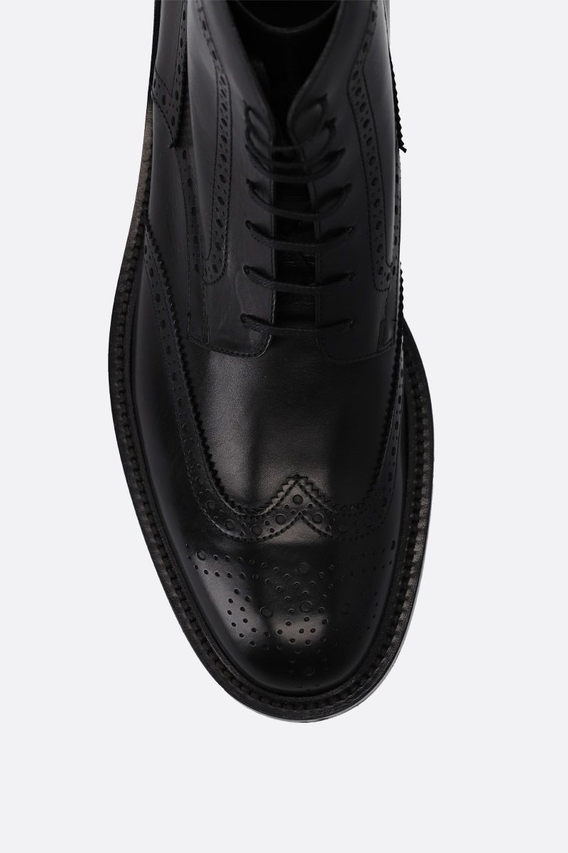 SAINT LAURENT: Army lace-up boots in smooth leather Color Black_4